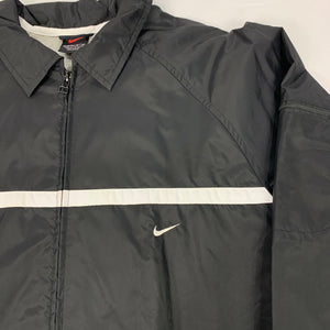 90s Y2K NIKE Striped Windbreaker Coach's Jacket