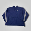 90s Adidas Three Stripe Logo Pull Over Anorak Windbreaker