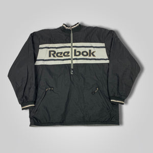 90s Reebok Reversible Spell Out Half Zip Jacket