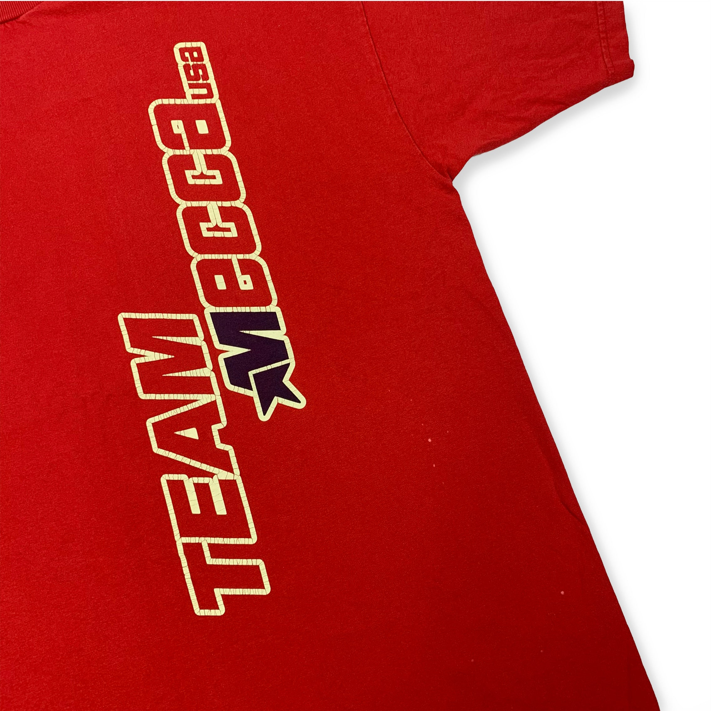 90s MECCA TEAM USA Spell Out T-Shirt