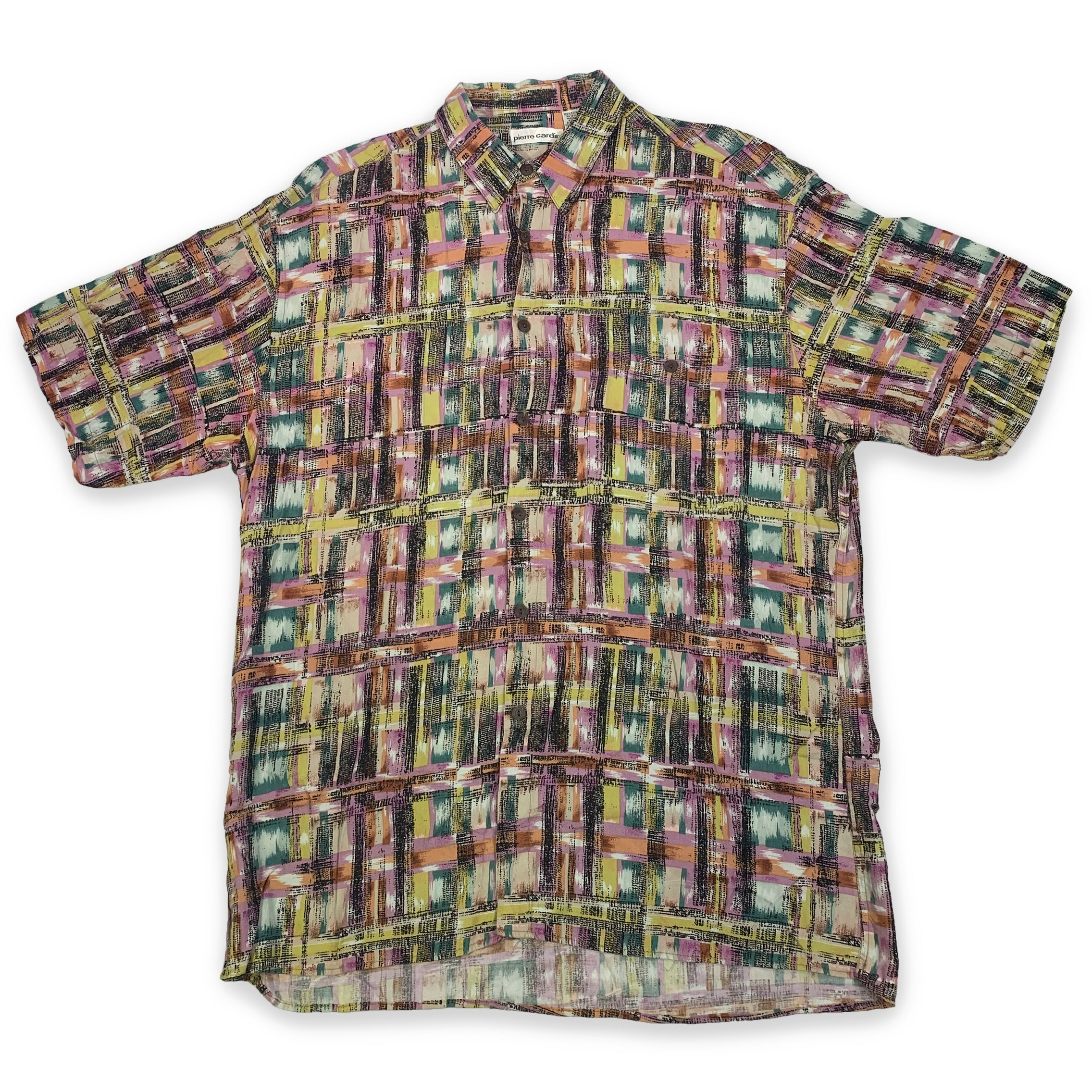90s Pierre Cardin Multicolor Short Sleeve Button Up Shirt