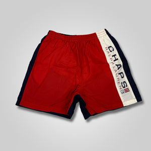 90s Chaps Ralph Lauren Color Block Spell Out Swim Trunks