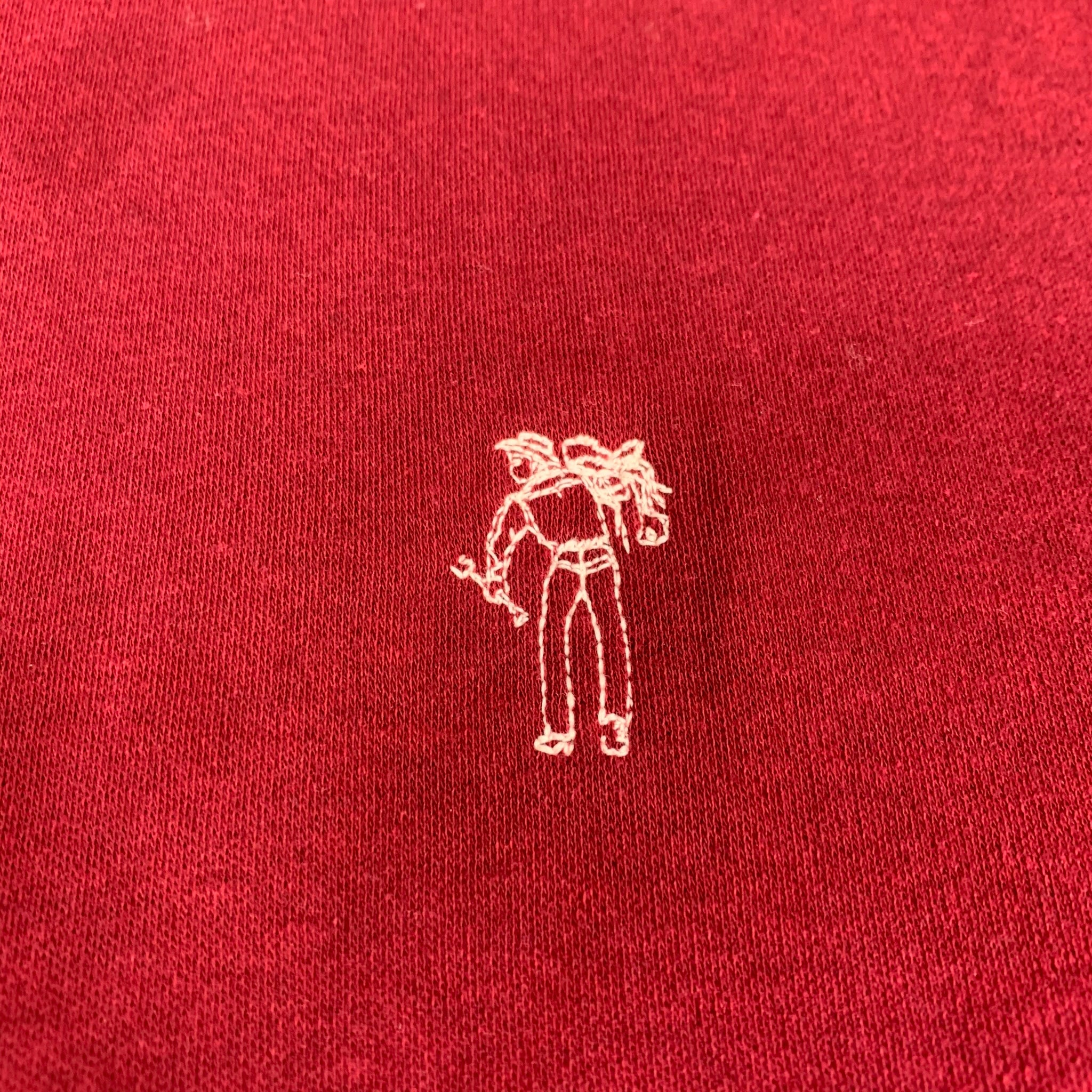 Rare 70s 80s LEVIS Dacron Polyester Embroidered Cowboy T-Shirt