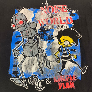 2005 Good Charlotte Simple Plan Noise To The World Tour T-Shirt
