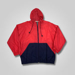Load image into Gallery viewer, 90s Jennifer Moore Color Block Hooded Windbreaker