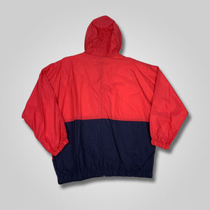 90s Jennifer Moore Color Block Hooded Windbreaker