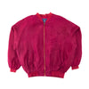 Weathervane Outfitters 100% Silk Maroon Bomber Jacket