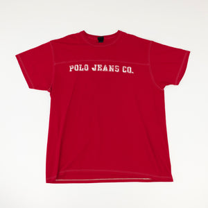 90s Polo Jeans Co Ralph Lauren Double Sided Spell Out T-Shirt