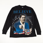 Load image into Gallery viewer, Obama Believe The American Promise Double Sided Long Sleeve T-Shirt