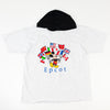 90s Disney Mickey Epcot Flag Hooded T-Shirt