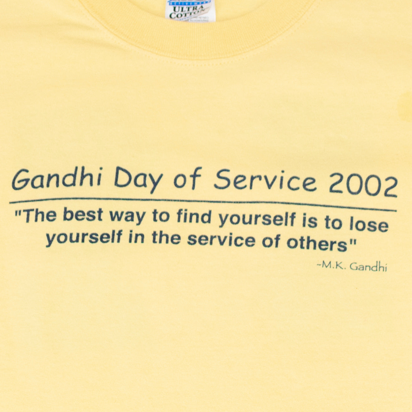 2002 Gandhi Day Of Service T-Shirt