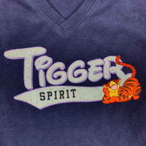 90s Disney Tigger Spell Out Fleece Sweater