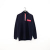 Polo Jeans Co Spell Out Patch Logo Quarter Zip Sweatshirt