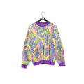 Abstract Pattern Multicolor Terry Sweatshirt