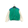 Eddie Bauer Color Block Elbow Patch Bomber Jacket