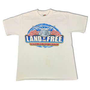 Y2K USA Land of The Free Home of The Brave Rap Style T-Shirt