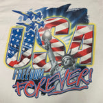 Load image into Gallery viewer, Y2K USA Land of The Free Home of The Brave Rap Style T-Shirt