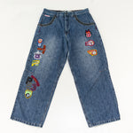 Load image into Gallery viewer, 90s Y2K Paco Sport All Over Patch Baggy Jeans