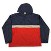 70s 80s Adidas Color Block Spell Out Anorak Windbreaker Jacket