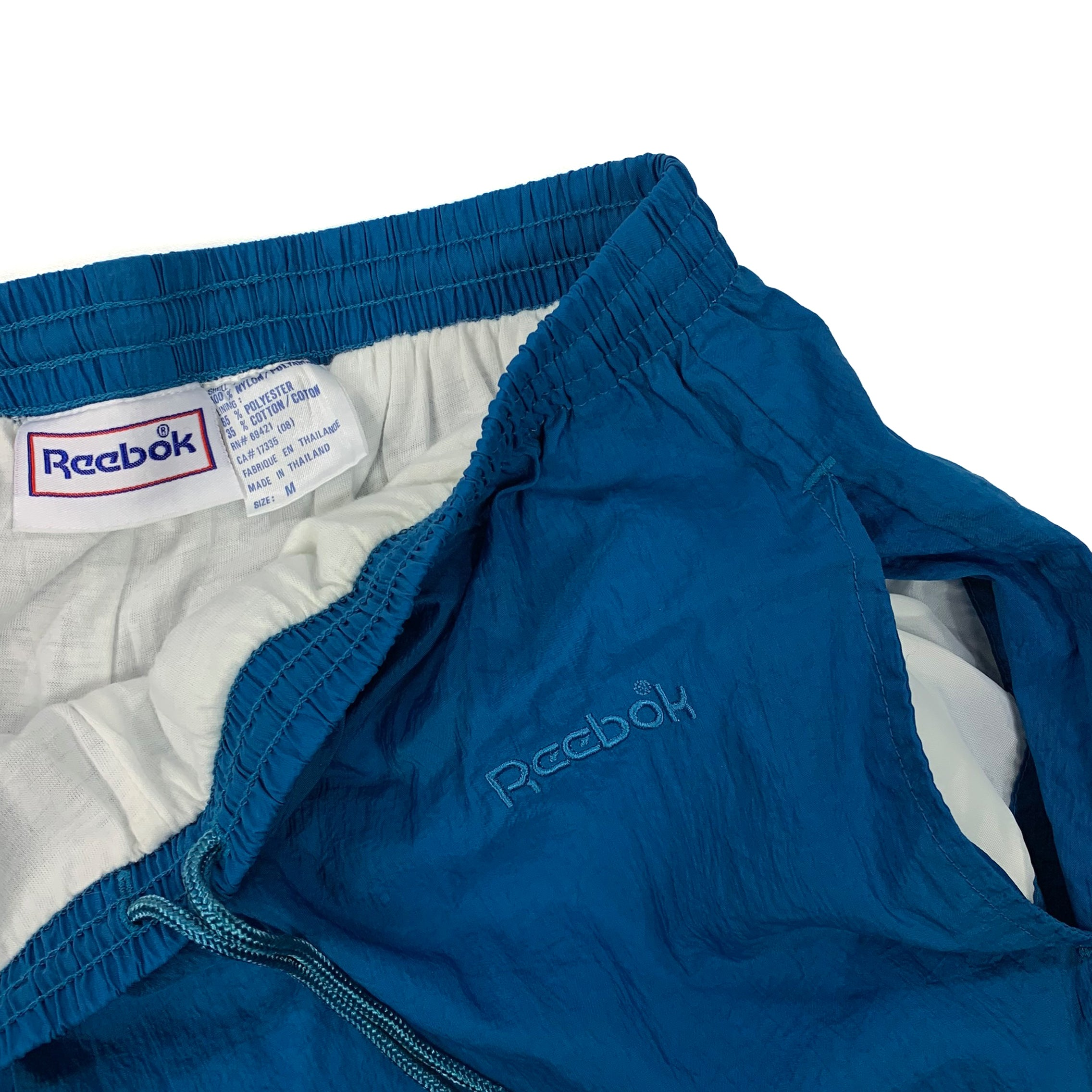 90s Reebok Spell Out Windbreaker Lined Joggers