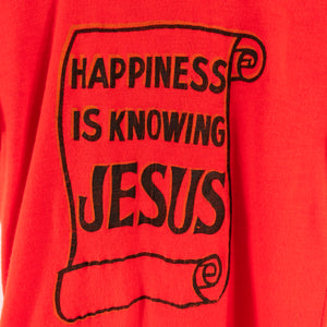 70s 80s Happiness Is Knowing Jesus T-Shirt