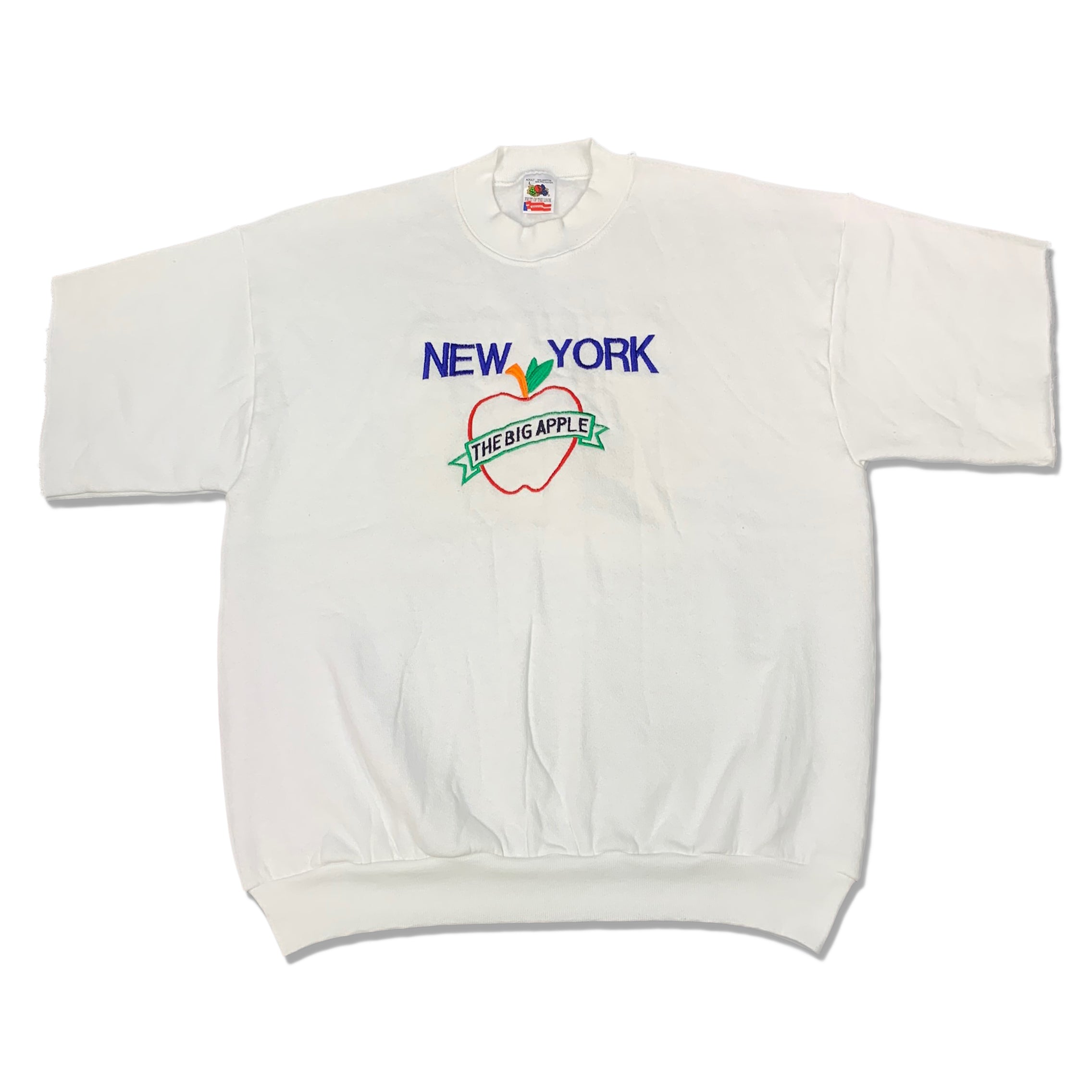 90s New York Big Apple Cutoff Sweatshirt
