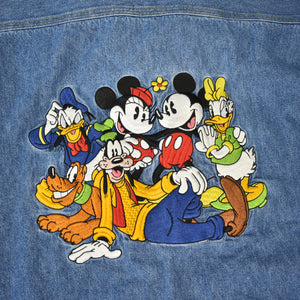 90s Disney Characters Embroidered Denim Shirt