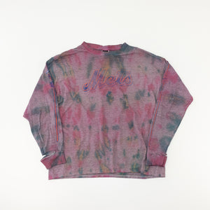 VNTG x NIKE Mets Distressed Thrashed Long Sleeve T-Shirt