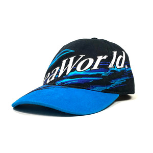 90s Sea World Adventure Parks All Over Print Strap Back Hat