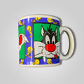 1993 Sylvester The Cat Warner Bros Coffee Mug