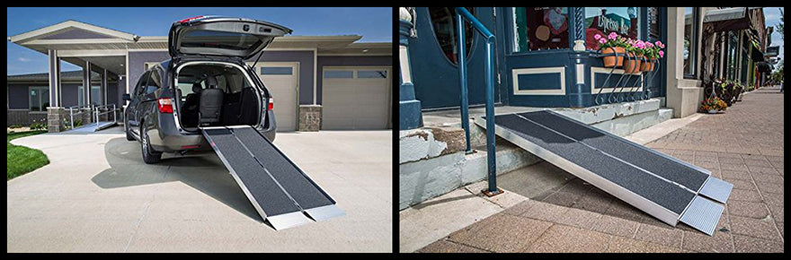 portable foldable wheelchair ramp