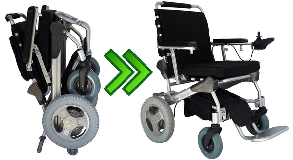 Electric Folding Wheelchair by EZ Lite Cruiser Deluxe DX12 Model