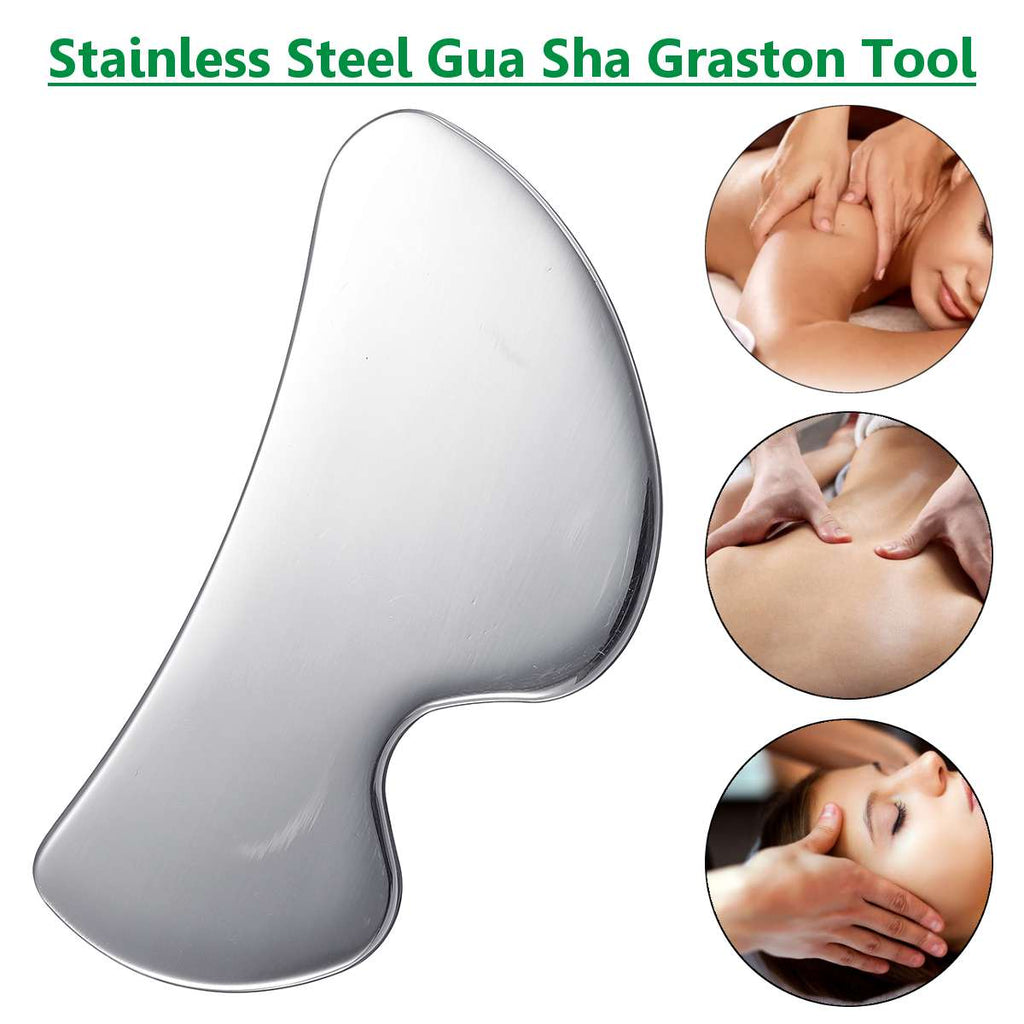 304 Stainless Steel Medical Treatment Gua Sha Board Plate Relaxing Muscle Meridian Massager Body Health SPA Massage Tool New