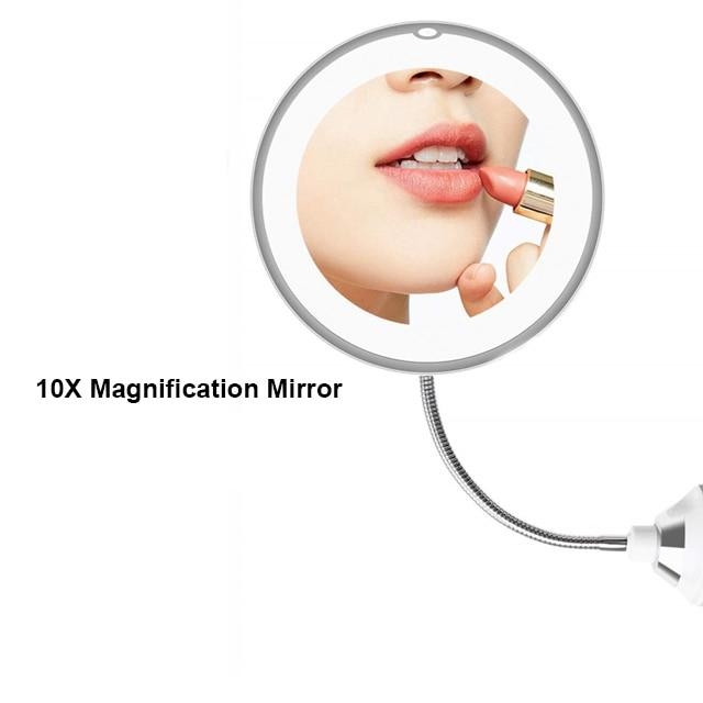 360 Degree Rotation 10X Magnifying Mirror - lytebright