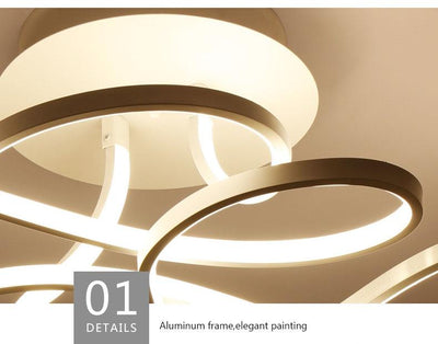 Curve Art Decor LED Ceiling Light - lytebright