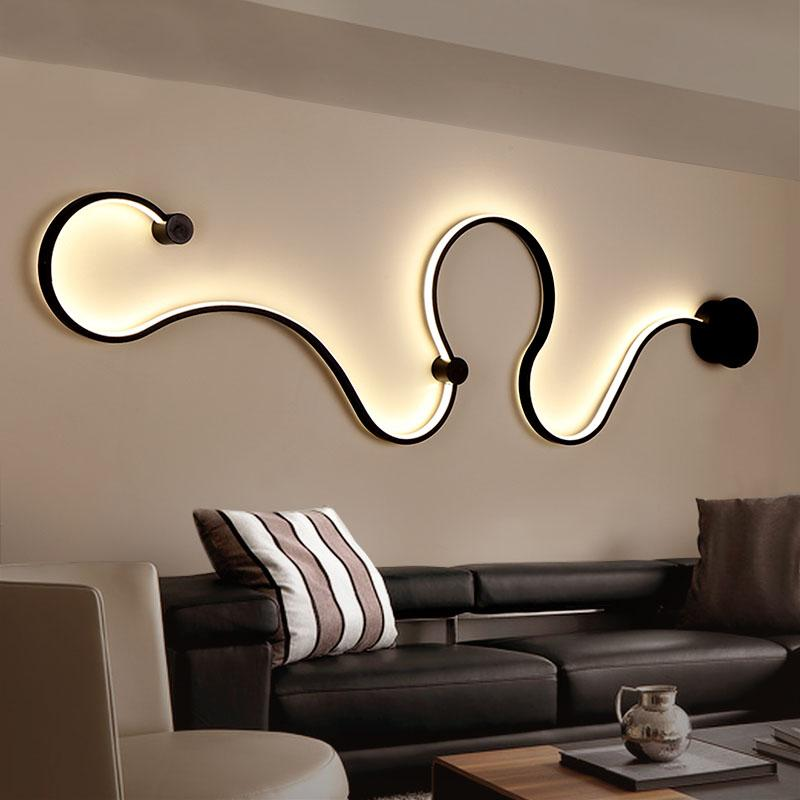 Decorative LED Wave Wall Light - lytebright