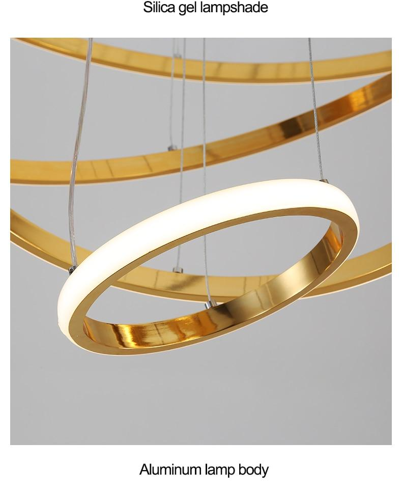 Rings Modern LED Pendant Chandelier - lytebright
