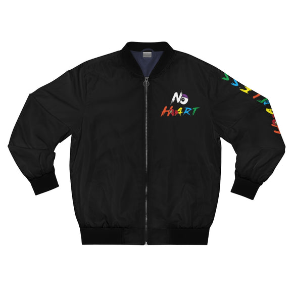 No Heart Bomber Jacket - Black