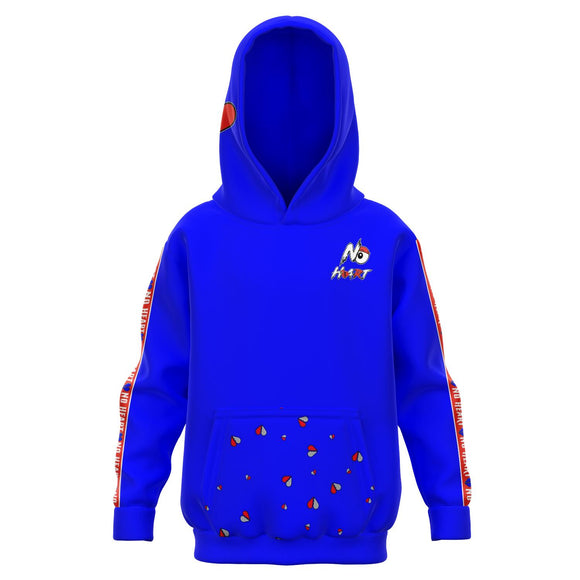 Kids No Heart Strip Hoodie - Blue/Red
