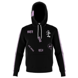 No Heart Strip Hoodie- Purple
