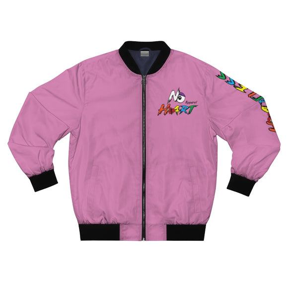 No Heart Bomber Jacket - Pink