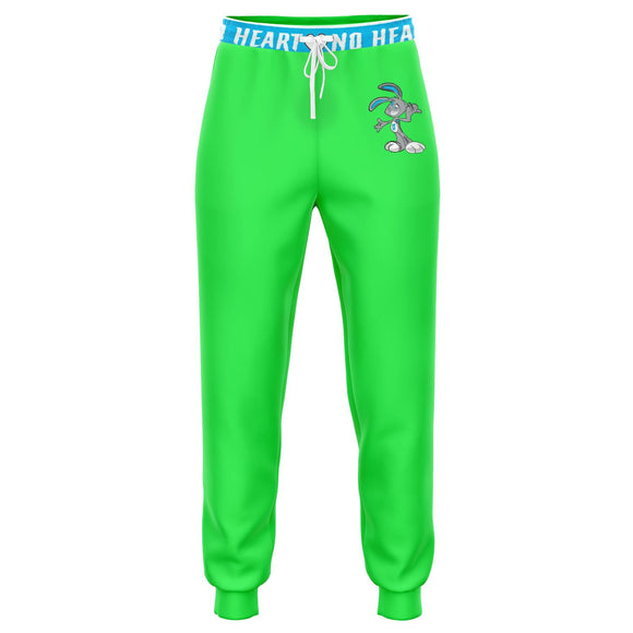 No Heart Strip Joggers - Neon