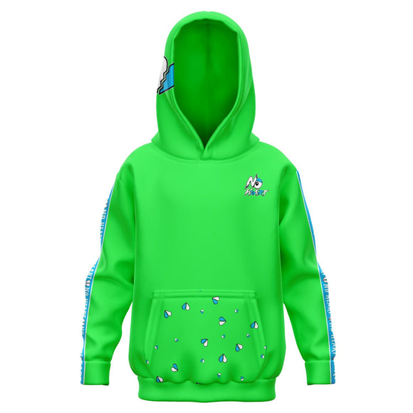 Kids No Heart Strip Hoodie - Blue/green