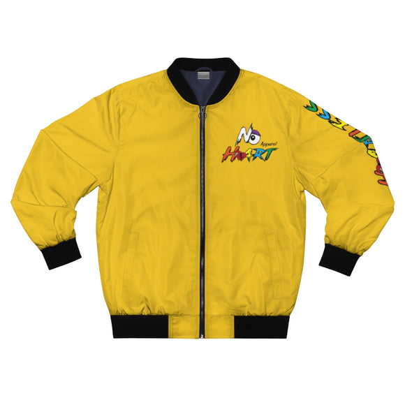 No Heart Bomber Jacket - Yellow