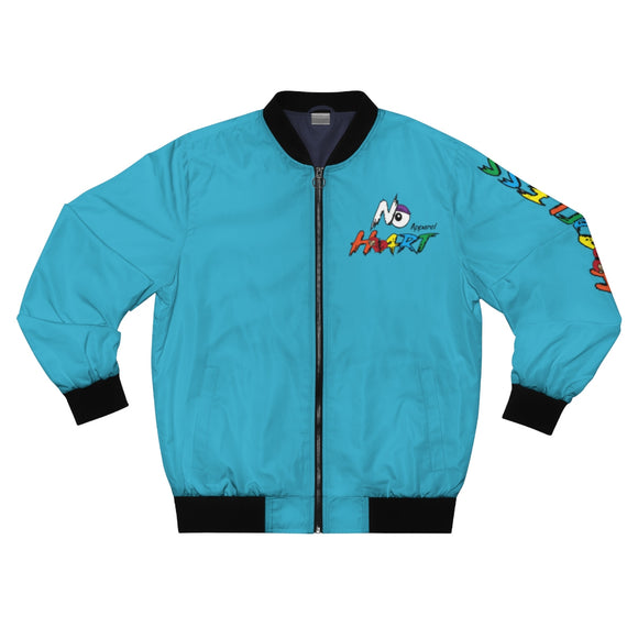 No Heart Bomber Jacket - Turqoise