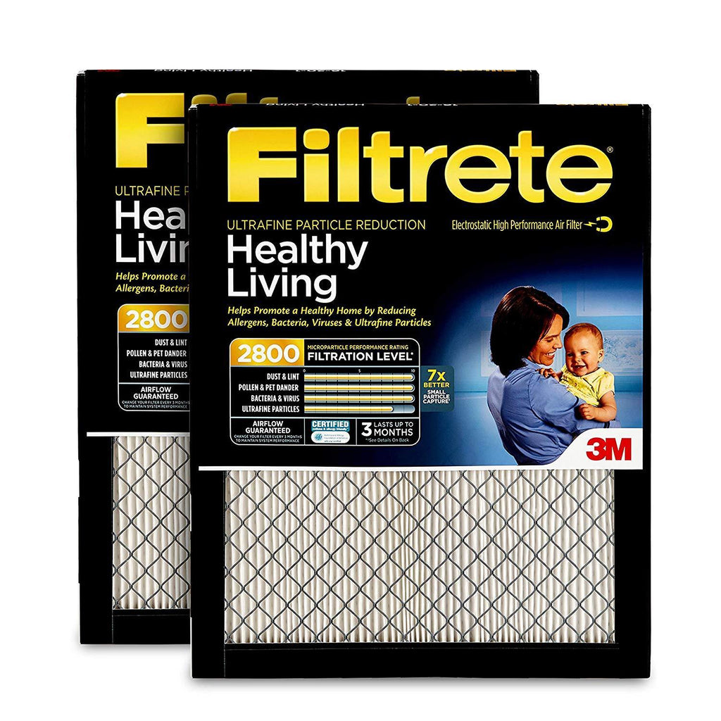 Healthy Living Ultrafine Particle Reduction 2-Pack AC Furnace Air Filter Filtrete 20x20x1 MPR 2800