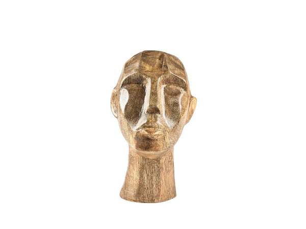 Face ornament Mango wood Nature 18 cm - svenlars