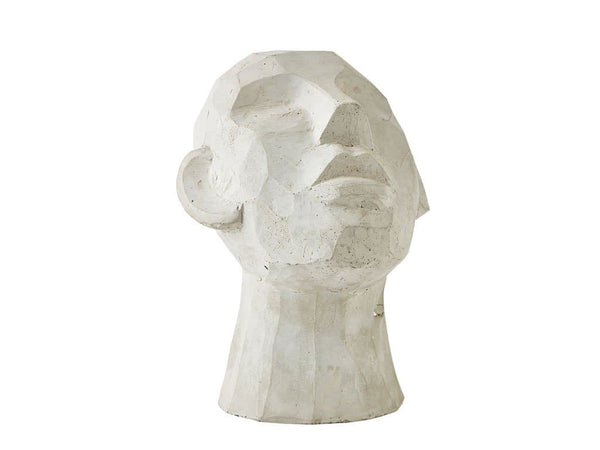 Face ornament INGRID cement Wit 23 cm - svenlars