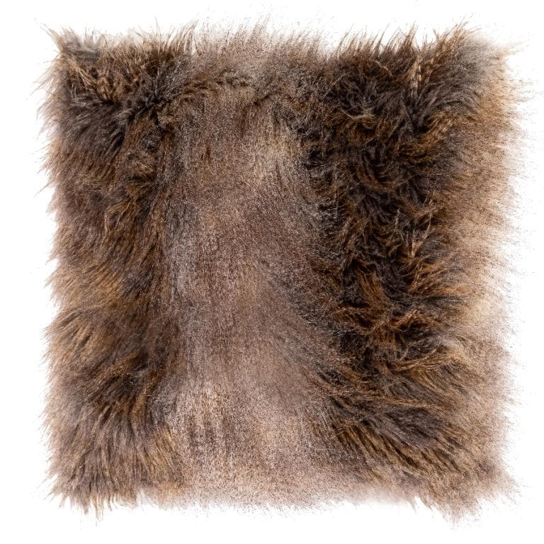 Kussen FOX fur 45x45 Dark brown - svenlars