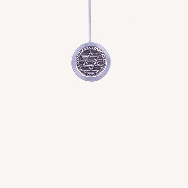 Bio-Tensor's custom-design Ring with Spring Antenna - Star of David Symbol
